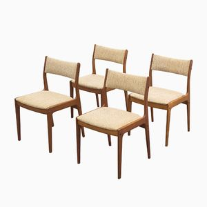 Vintage Teak Dining Chairs from Uldum Møbelfabrik, Set of 4