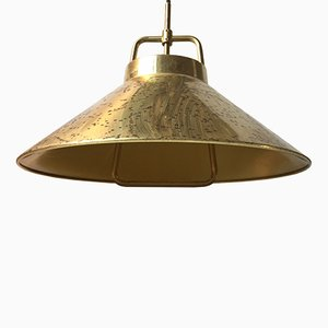 Adjustable Danish P 295 Brass Pendant by Fritz Schlegel for Lyfa, 1960s