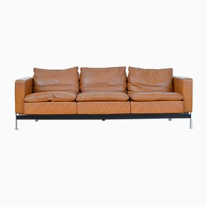 RH 302 Leather 3-Seater Sofa by Trix & Robert Haussmann for de Sede, 1954