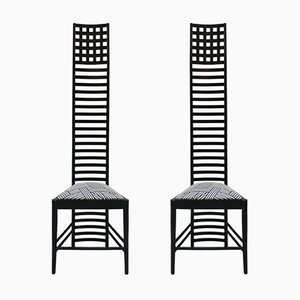 Sedie Hill House 292 di Charles Rennie Mackintosh per Cassina, anni '70, set di 2