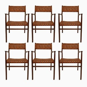 Italian Chairs by Jens Risom, 1950s, Set of 8