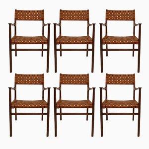 Italienische Stühle von Jens Risom, 1950er, 8er Set