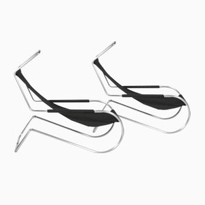 Vintage Deckchairs by Battista & Gino Giudici, Set of 2