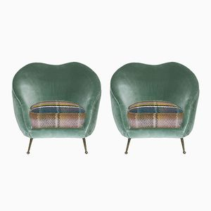 Italienische Sessel von Federico Munari, 1950er, 2er Set