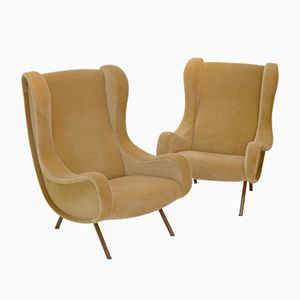 Vintage Senior Armchairs by Marco Zanuso for Arflex, Set of 2
