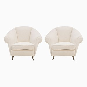 Italian 12690 Armchairs by Gio Ponti for ISA, 1950s, Set of 2