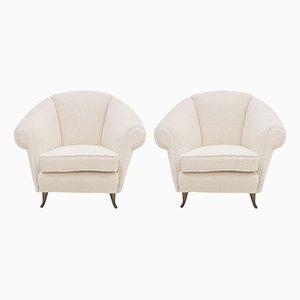 Italienische 12690 Sessel von Gio Ponti für ISA, 1950er, 2er Set