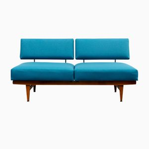 Blaues Vintage Schlafsofa