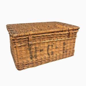 Vintage Rattan and Tendon Basket