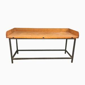 Vintage Backtisch aus Schwarzem Metall & Buche
