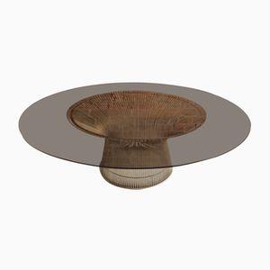 Coffee Table in Steel & Glass by Warren Platner for Knoll International, 1960s