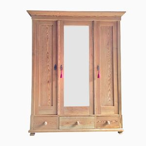 Antique French Solid Pine Wardrobe