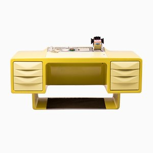 Vintage Fiberglass Director's Desk by Ernest Igl for Wilhelm Werndl