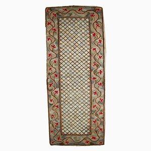 Chemin de Table Antique Fait à la Main en Crochet, Etats-Unis, 1880s