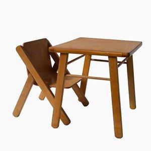 Kinderschreibtisch und -Stuhl, 1970er