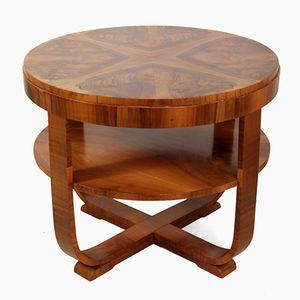 Art Deco Coffee Table in Walnut, 1930s
