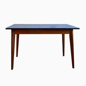 Tavolo in legno di formica color blu zaffiro, anni '50