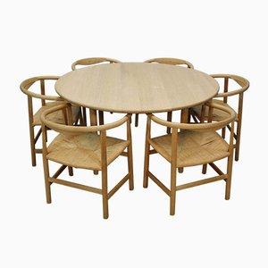 Mid-Century CH 337 Esstisch mit PP 68 & PP201 Stühle von Hans Wegner für Carl Hansen