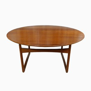 Teak Coffee Table by Hvidt and Mølgaard for France & Søn, 1950s