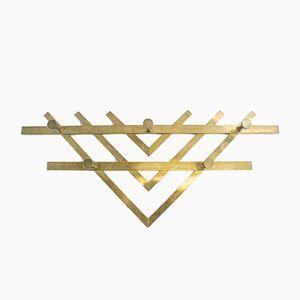 Vintage Triple V Bauhaus Brass Wall Hook