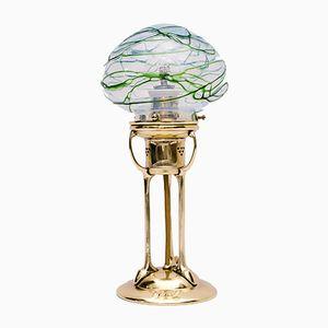 Tischlampe mit Pallme König Glasleuchte, 1900er