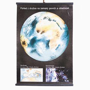 Poster raffigurante il pianeta terra, anni '80