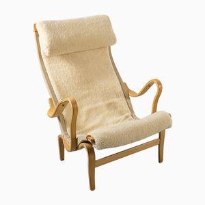 Vintage Pernilla Sessel aus Buchenholz von Bruno Mathsson für Dux