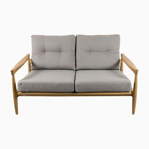 Zwei-Sitzer Sofa aus Eichenholz von Erik Wørts, 1960er