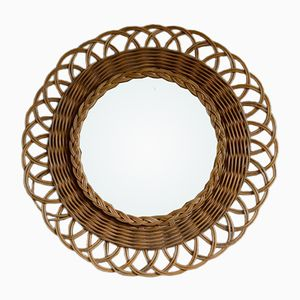 Rattan Mirror, 1960s