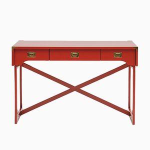 Kleiner Roter Vintage Schreibtisch