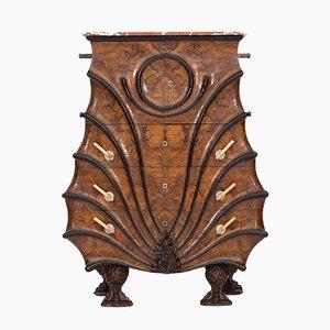 Vintage Walnut and Ebonised Wood Cabinet