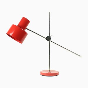 Czechoslovakian Red Office Lamp by Jan Suchan for Elektrosvit, 1967