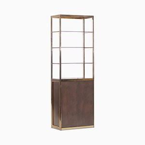 Copper and Brass Display Cabinet by Maison Jansen, 1970s