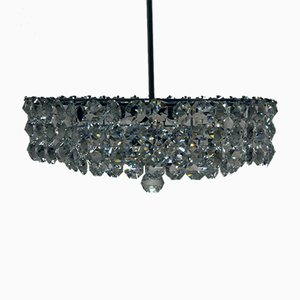 Large Vintage Crystal Chandelier from Bakalowits & Sohne