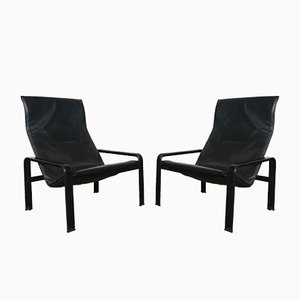 Vintage Golfo Dei Poeti Lounge Chairs by Jacques Toussaint & Patrizia Angeloni for Matteo Grassi, Set of 2