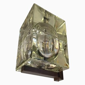 Vintage Glass Cubosfera Sconce by Alessandro Mendini and Alessandro Guerriero for Fedenza Vetreria