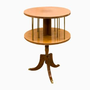 Mid-Century Two-Tiered Pedestal Table