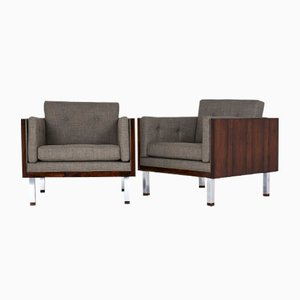 lounge chairs by jydsk mobelvaerk 1960s set of 2