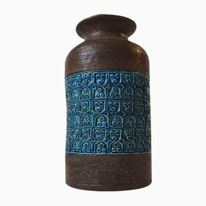 Mid-Century Italian Stoneware Vase by Aldo Londi for Bitossi, 1960s