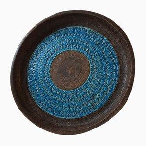 Mid-Century Italian Stoneware Bowl by Aldo Londi for Bitossi, 1960s