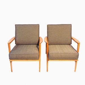 Stefan Oak Lounge Chairs from Ikea, 1963, Set of 2