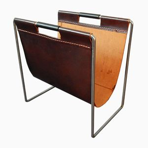 Leather and Metal Magazine Rack from Brabantia