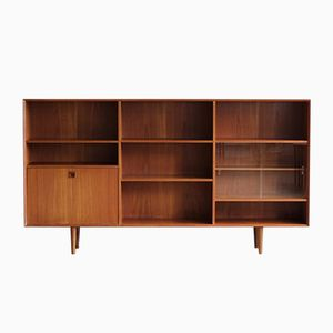 Mid-Century Danish Teak Low Bookcase, 1960s