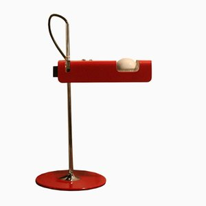 Mid-Century Red Spider 291 Desk Lamp by Joe Colombo for Oluce