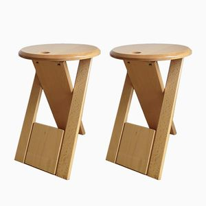 Suzy Beech Stools by Adrian Reed for Princes Design Works, 1980s, Set of 2
