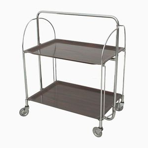Vintage Brown Folding Trolley, 1970s