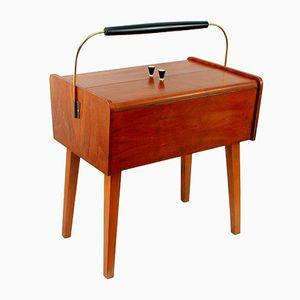 Vintage Mid-Century Scandinavian Teak Sewing Box, 1950s