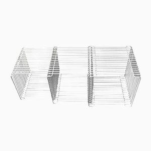 Modulare da parete o da salotto in acciaio cromato di Verner Panton per Fritz Hansen, anni '70, set di 3