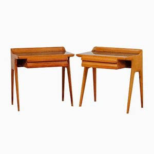 Mid-Century Italian Maple Night Tables, Set of 2