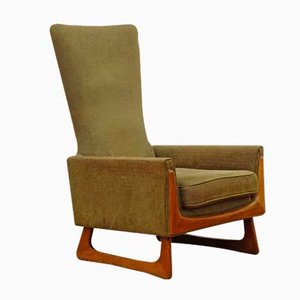 Mid-Century American Walnut Lounge Chair by Adrian Pearsall